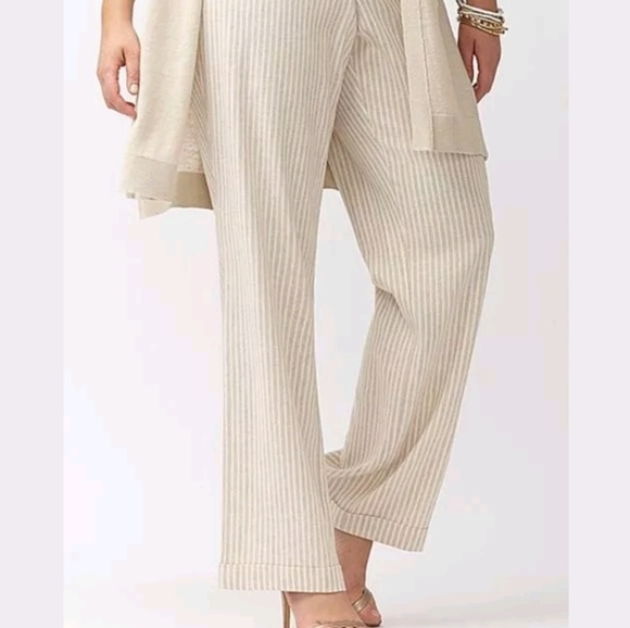Lane Bryant Lena Beige Career Dress Pants Trousers Tighter Tummy Pants Size 20